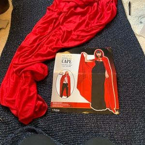 Full-length Red Hooded Cape